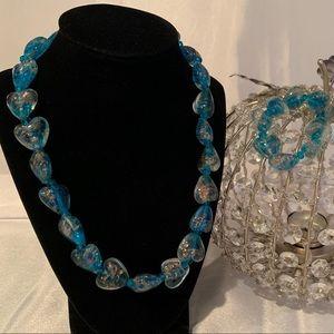 Jewelry - Art Glass Necklace & Bracelet
